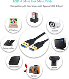 6ft USB 3.0 A to A Cable USB Male to Male Cable, Black (BG1203) 600978586805