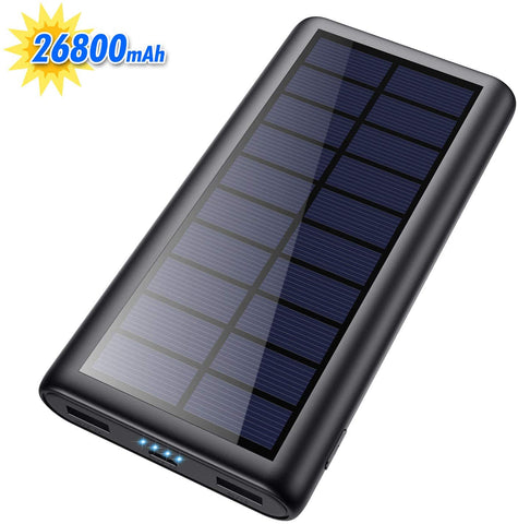HX160Y9 26800mAh Portable Solar Power Bank with 4 LEDs and 2 USB Output Ports 688397941887