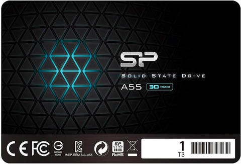 "Silicon Power A55 SSD 3D NAND SLC Cache Performance Boost SATA III 2.5"" 7mm (0.28"") Internal Solid State Drive"