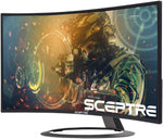 "C326B-185RD Sceptre 32"" Curved Gaming Monitor HDMI DisplayPort with Build-in Speakers 792343331230"