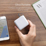 Anker Elite Dual Port 24W Wall Charger, PowerPort 2 with PowerIQ and Foldable Plug (A2023123)