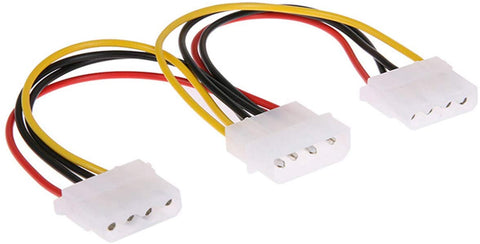 11W3-01208 Molex 4-Pin 8in IDE Power Supply Y Splitter Cable, 2 Female to 1 Male 846568012785