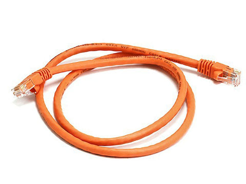 350 MHz UTP Cat5e RJ45 Network Cable, Orange