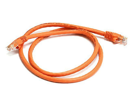 100MHz UTP Crossover Cat5 RJ45 Network Cable, Orange