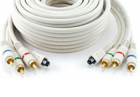 12ft Toslink Optical Audio & 3-RCA (RGB) Video Component Cable (AV-T612) 612