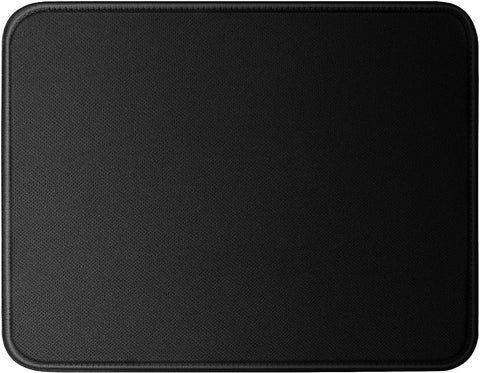 BLACKMOUSEPAD1PK 11 x 8.7 inch Premium gaming mouse pad non slip stitched, Black 000017447621