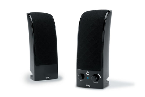 CA-2402 Cyber Acoustics 2.0 Powered Speaker System, Black 646422002262
