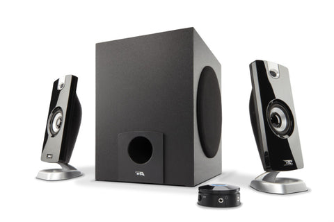 Cyber Acoustics 3-Piece Flat Panel 18-watt Speaker System (CA-3090) 646422000428