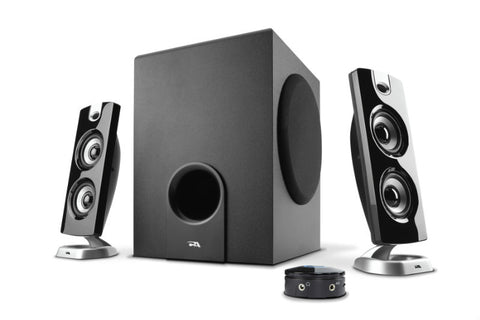 CA-362S Cyber Acoustics 3pc 30W Speaker Set, Black 646422002224