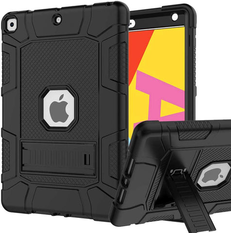 RANTICE iPad 7th Generation Case, Hybrid Shockproof Rugged Drop Protection Cover Built with Kickstand for iPad 10.2 inch 7th Generation (A2197 / A2198 / A2200)