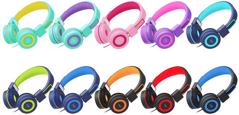 Elecder i37 Kids Headphones for Children Girls Boys Teens Foldable Adjustable On Ear Headphones