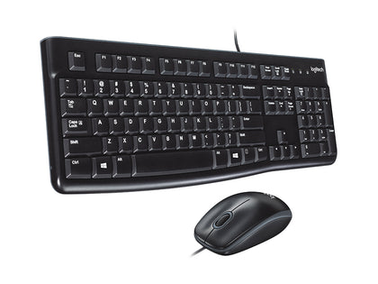 Logitech Desktop MK120 Durable, Comfortable, USB Mouse and keyboard Combo (920-002565)