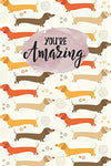 "MEZZO Notebook For Dachshund Lovers, 100 Pages, 6x9"" (55101500)"