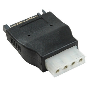 Link Depot SATA 15 Pin Male to Molex 4 Pin PC IDE Female Power Adapter (POW-SATA-FM) 899744008126