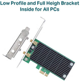 Archer T6E TP-Link AC1300- 2.4G/5G Dual Band Wireless PCI Express Adapter, Low Profile 845973092559