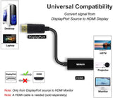 Benfei Gold-Plated DP Display Port to HDMI Adapter (Male to Female) (B017Q8ZVWK)