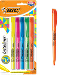 BLP51W-Ast BIC Brite Liner Highlighter, Chisel Tip, Assorted Colors, 5-Count 070330908376