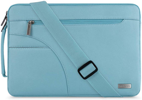MOSISO Laptop Shoulder Bag Compatible with 13-13.3 inch MacBook Pro, MacBook Air, Notebook Computer, Polyester Briefcase Sleeve with Side Handle