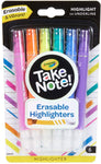 58-6504 CRAYOLA Take Note Chisel Tip Erasable Highlighters, 6- Count, Assorted 071662065041