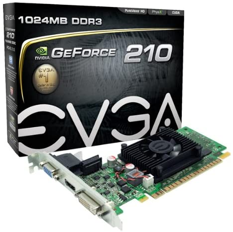 01G-P3-1312-LR EVGA GeForce 210 DDR3, PCI Express 2.0 DVI/HDMI/VGA Graphics Card