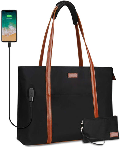 RELAVEL Laptop Tote Bag with USB, fits 15.6 inches Laptops - X0028E6R1X