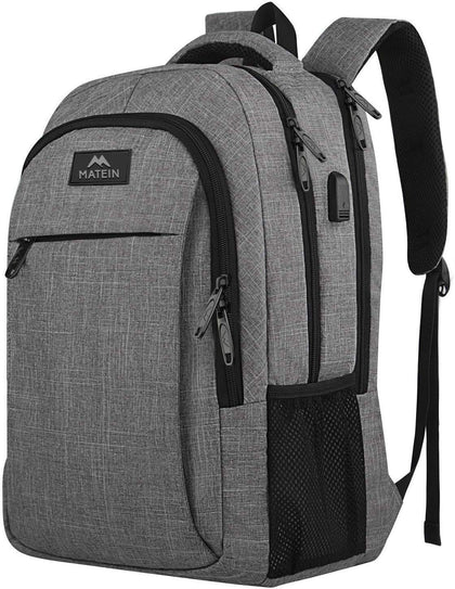 Matein 15.6 in Laptop Backpack with USB (LQ1004BRW)