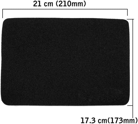SaiTECH 2MM Thickness Speed Rubber Mouse Pad, Black (1030)