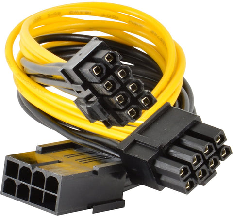 PCIEPWR-K-1PK 9 in PCI Express Power Splitter Cable 8-pin to 2x 6+2-pin 0845832018171