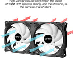 UpHere Quiet Edition High Airflow Colorful LED Case Fan (PF240CF) X002CC5YAL