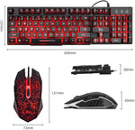 Rii Gaming Keyboard and Mouse Set, 3-LED Backlit Mechanical Feel Business, Office (RK108) x002c64irh