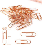 YALIS Rose Gold Paper Clips 200 pcs Smooth Finish Steel Wire Paperclips 28mm Medium Size for Document Organizing and Classifying Office Supplies (28mm Rose Gold)