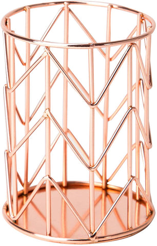 U Brands Pencil Cup, Wire Metal, Copper/Rose Gold  (857U06-24)