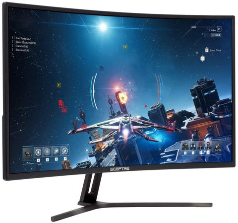"Sceptre 32"" Curved Gaming Monitor FreeSync HDMI DisplayPort with Build-in Speakers (C325B-185RD)"