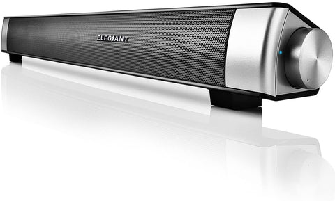 Elegiant Bluetooth 5.0 Sound Bar, Wired & Wireless Computer Speakers Portable Home Theater (4088)