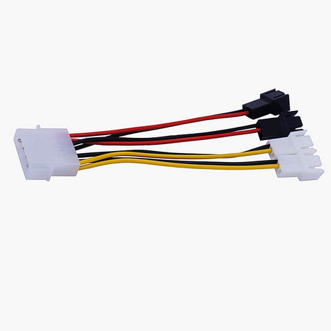 8 In 12V PC Case Fan Power Adapter Cable, 3 Pin or 4 Pin PWM Connector (43000000) 49465169