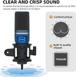 Tonor Computer Condenser PC Gaming Mic with Tripod Stand & Pop Filter (TC-777) X0029WRQCN