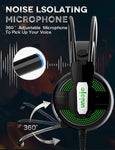 Uniojo Noise Cancelling Professional Wired Gaming Headphones with Mic (B07FCKTG8L) 782855439876