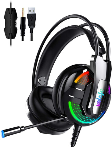 B07FCKTG8L Uniojo Noise Cancelling Professional Wired Gaming Headphones with Mic 782855439876