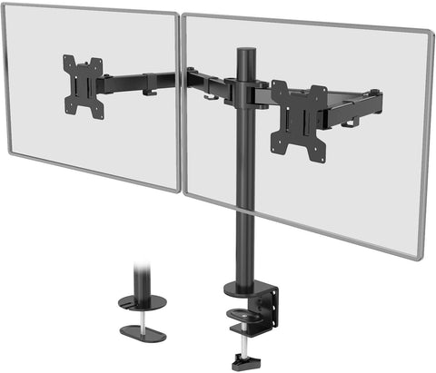 M002 WALI Dual LCD Monitor Fully Adjustable Desk Mount Stand 811278020399