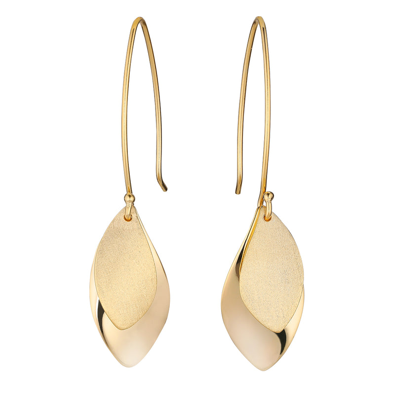 Gold Olive Leaf Earrings