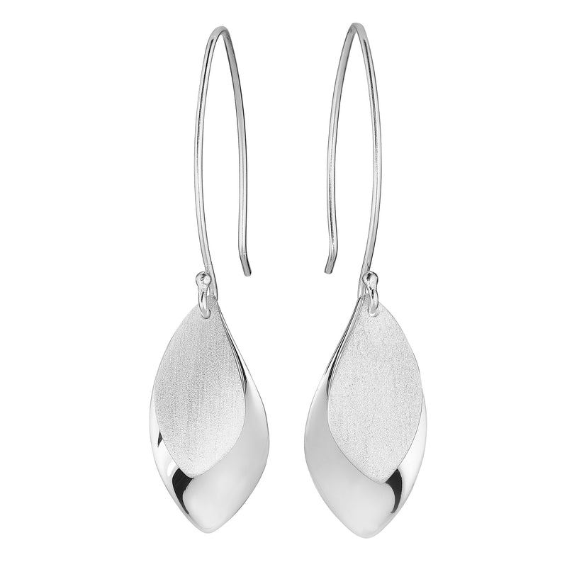 Silver Olive Leaf Earrings