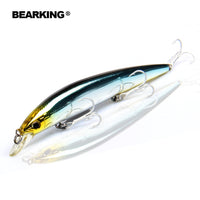 Retail Bearking professional fishing tackle ,Only for promotion  fishing lures,Bear king 128mm 14.8g,Minnow bait. hot model,