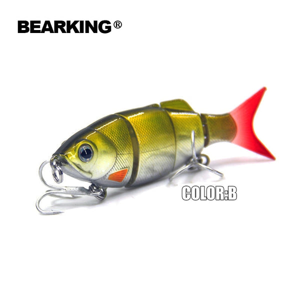 5pcs/lot Bearking Hot fishing lures minnow,hard baits quality professional baits 11cm/27g,swimbait jointed bait,free shipping