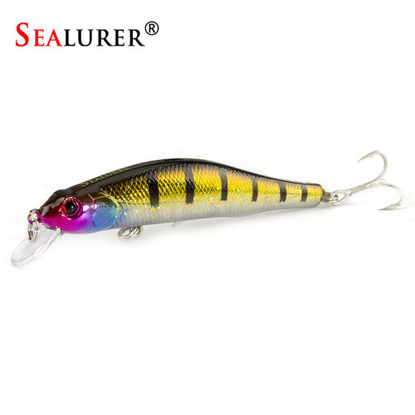 SEALURER Boxed  Fishing lures  Minnow   High Quality Tackle  100mm  11.7g  Wobblers Crankbait  with 6#  Hooks 3D Eyes