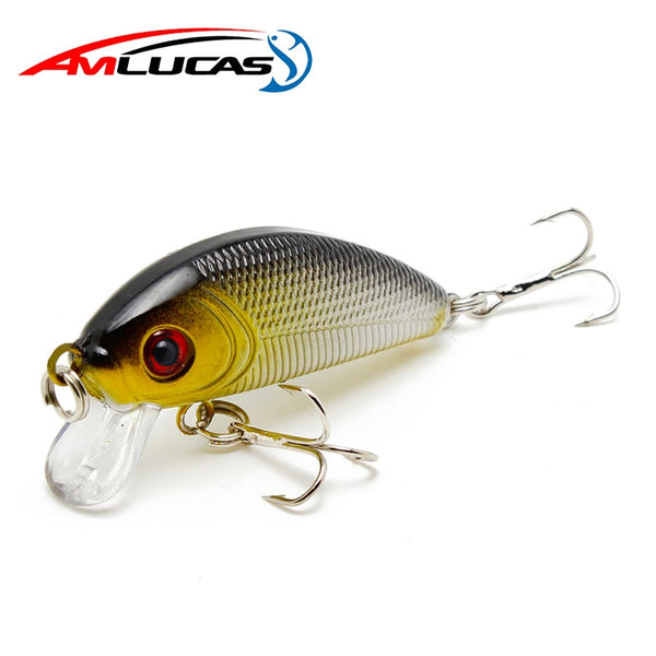 Amlucas Minnow Fishing Lure 50mm 3.6g Topwater Hard Bait Japan Crankbait Carp Fishing Wobblers Artificial Tackle WE203