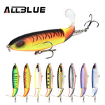 ALLBLUE Whopper Popper 9cm/11cm/13cm Topwater Fishing Lure Artificial Bait Hard Plopper Soft Rotating Tail Fishing Tackle Geer