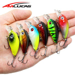 Amlucas 45mm 4.1g Crankbait Fishing Lure Artificial Hard Crank Bait Bass Fishing Wobblers Japan Topwater Minnow Fish Lures WW267