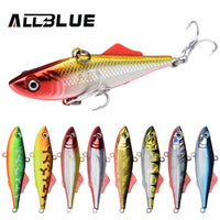 ALLBLUE KALIKA VIB 65S Sinking Vibration Fishing Lure Hard Plastic Artificial VIB Winter Ice Jigging Pike Bait Tackle Isca Peche