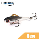 FISH KING Winter Ice Fishing Lure 1pc 38mm-65mm Balancer Hard Bait Lure For Ice Fishing Lead Jigging