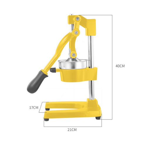SOGA Commercial Manual Citrus Juicer - Yellow